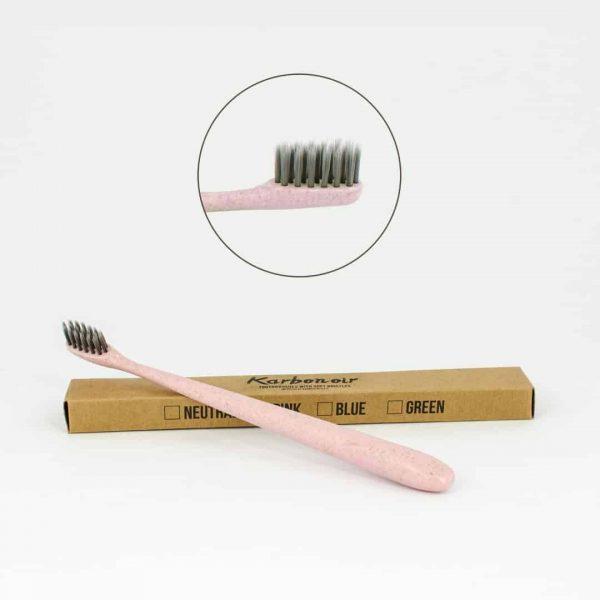 Karbonoir zobna ščetka - roza
