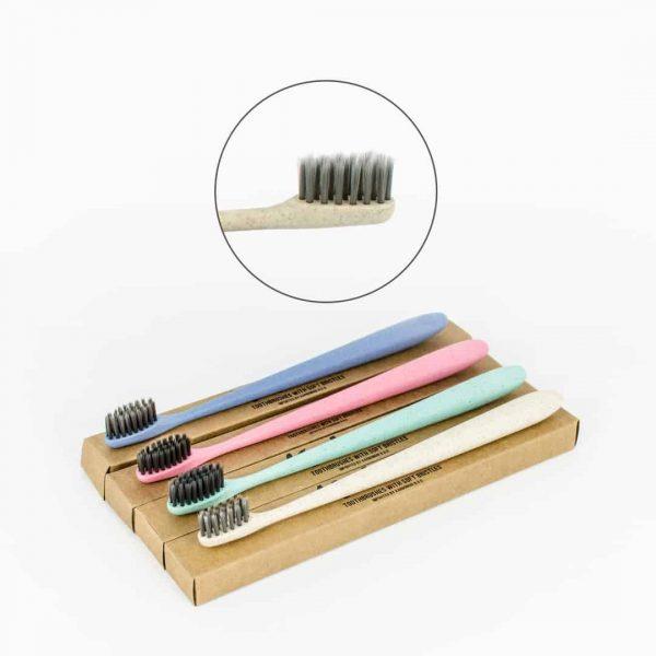 Karbonoir zobna ščetka z mehkimi ščetinami iz bambusovega oglja