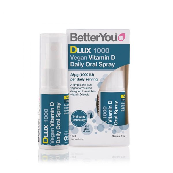 Vitamin D3 v spreju DLux 1000 Vegan BetterYou
