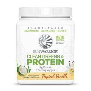 SunWarrior Presne beljakovine z zelenjavo v prahu z okusom vanilije