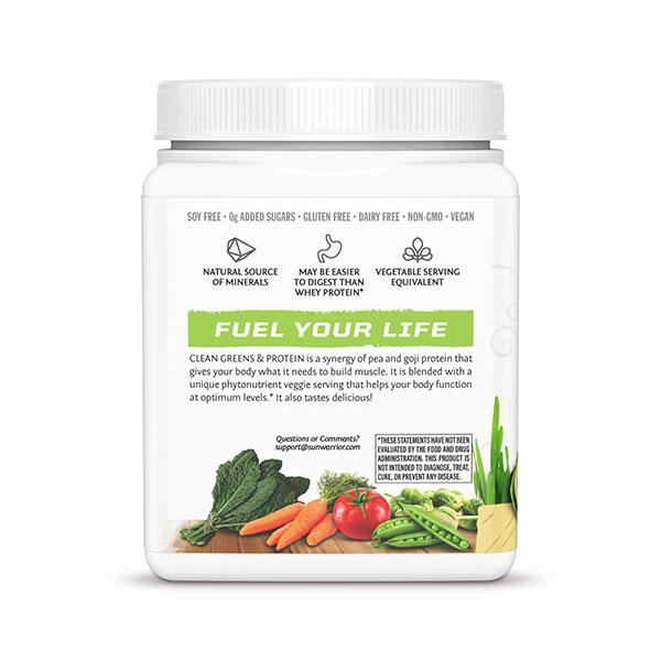 SunWarrior Presne beljakovine z zelenjavo v prahu z okusom vanilije - Fuel Your Life