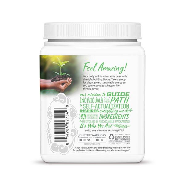 SunWarrior Presne beljakovine z zelenjavo v prahu z okusom vanilije - zadnja stran