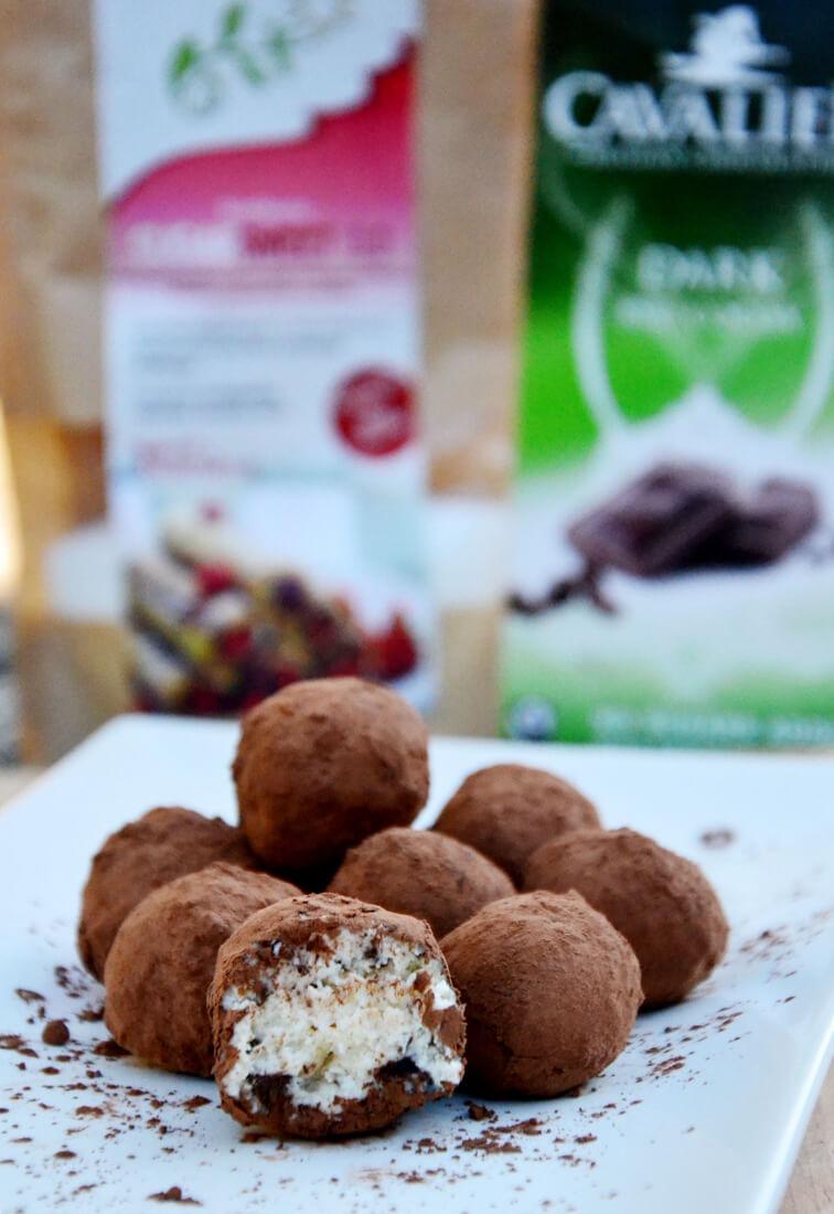 Mascarponejeve kroglice s koščki čokolade - nutriholis