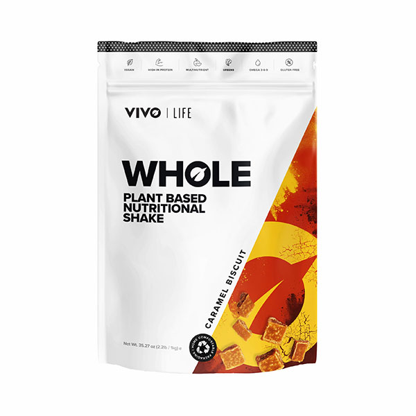 Veganska prehranska mešanica Vivo Life Whole - okus Karamela piškotek
