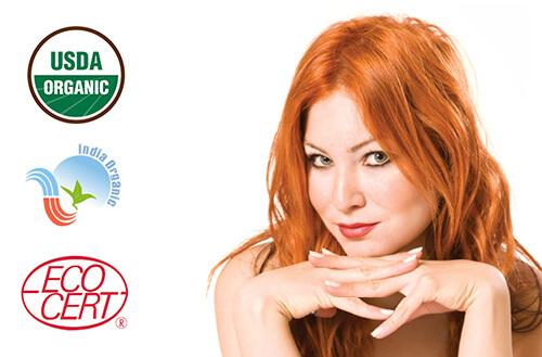 Naravna barva za lase Radico JAGODNO BLOND - prikaz na modelu