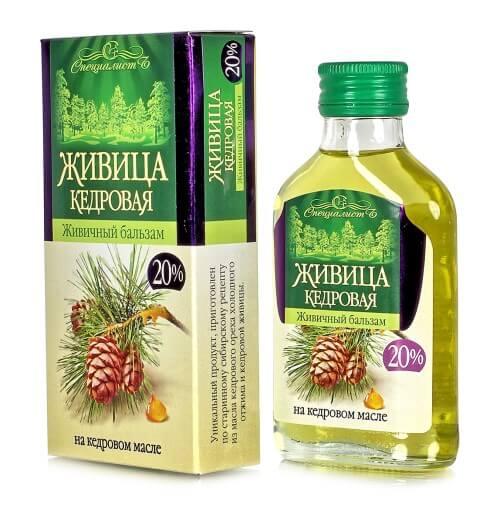 ŽIVICA - 20% smola sibirske cedre v olju
