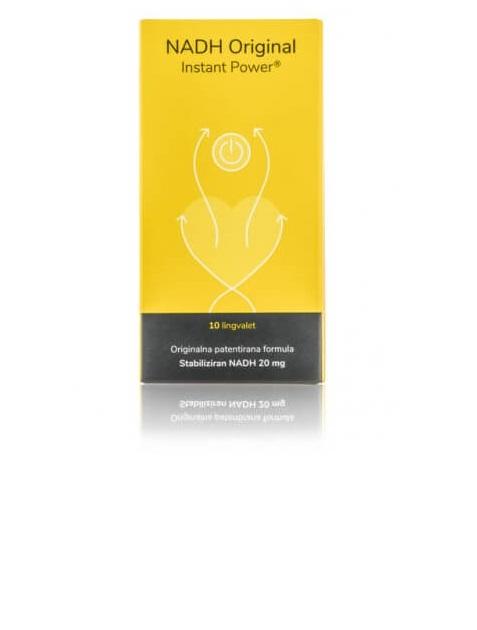 NADH Original Instant Power, stabiliziran NADH, 10 lingvalet