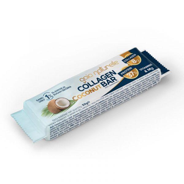Proteinska ploščica s kolagenom Gaia Naturelle - kokos