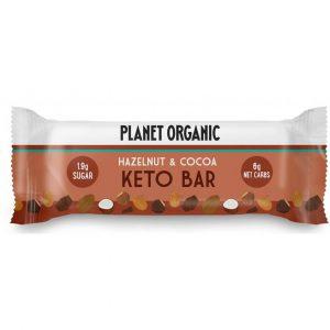 Ekološka KETO ploščica Planet Organic - lešnik in kakav