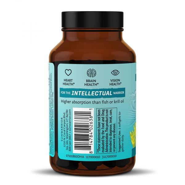 SunWarrior Omega 3 - Vegansko omega 3 olje z EPA & DHA - zadnja stran