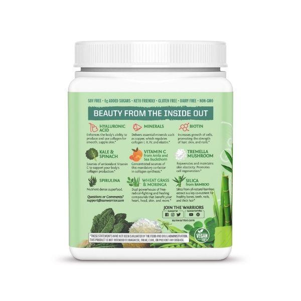 Beauty Greens Kolagen Booster SunWarrior, naravni okus 2