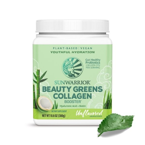 Beauty Greens Kolagen Booster SunWarrior, naravni okus