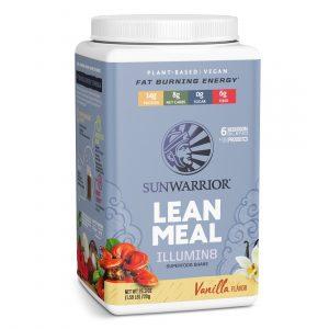 Sunwarrior Lean Meal Illumin8 mešanica za pripravo nadomestka obroka z okusom vanilije
